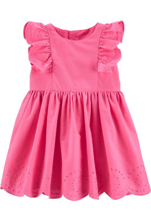 Carter's Rozsaszin fodros ruhácska