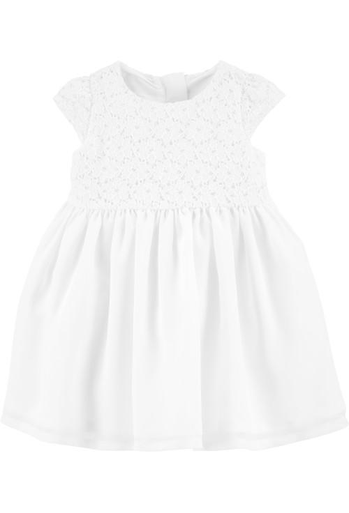 Carter's Fehér csipkés ruha