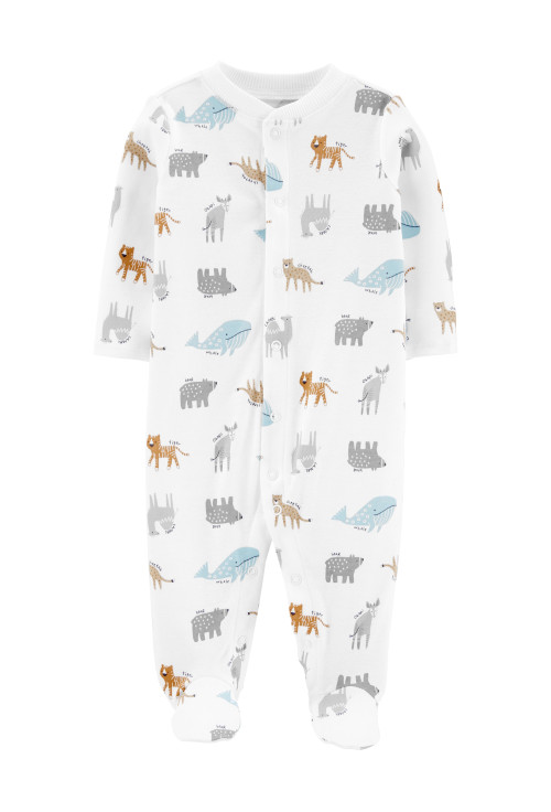 Carter's Állatkás pizsama, 100% organikus pamut
