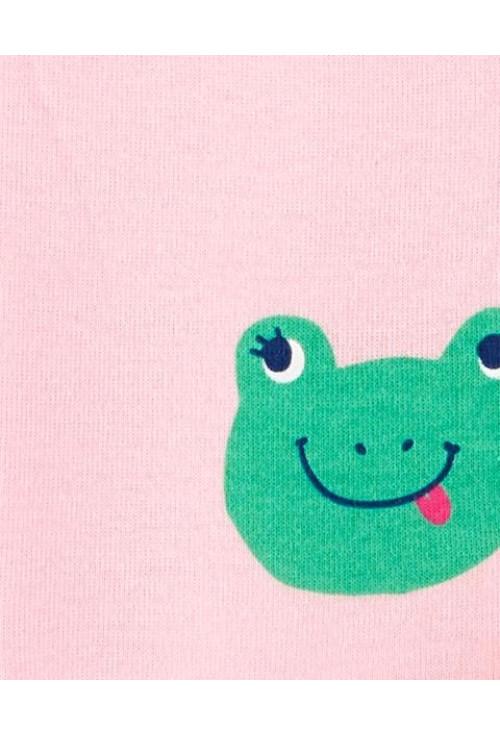 Carter's békamintás cipzáros pizsama