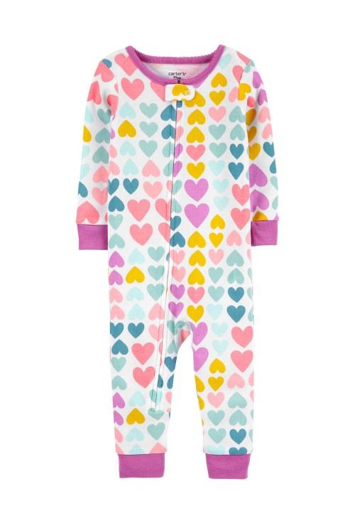 Carter's Szívecskés mintás pizsama cipzárral
