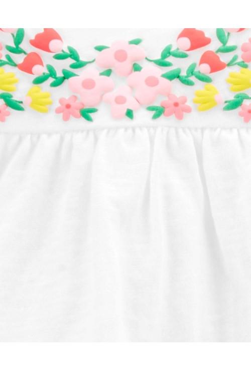 Carter's 3 darabos Virágmintás trikó, body és rövid nadrág szett