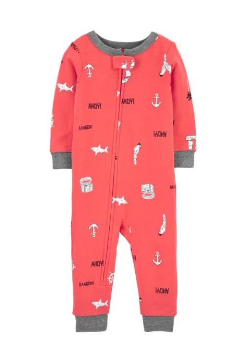Carter's Cápa mintás pizsama cipzárral
