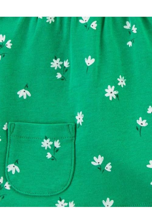 Carter's 3 darabos body, trikó és rövid nadrág szett virágokkal