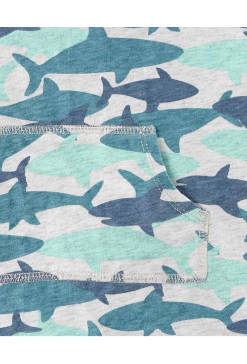 Carter's 2 darabos cápa mintás kezeslábas