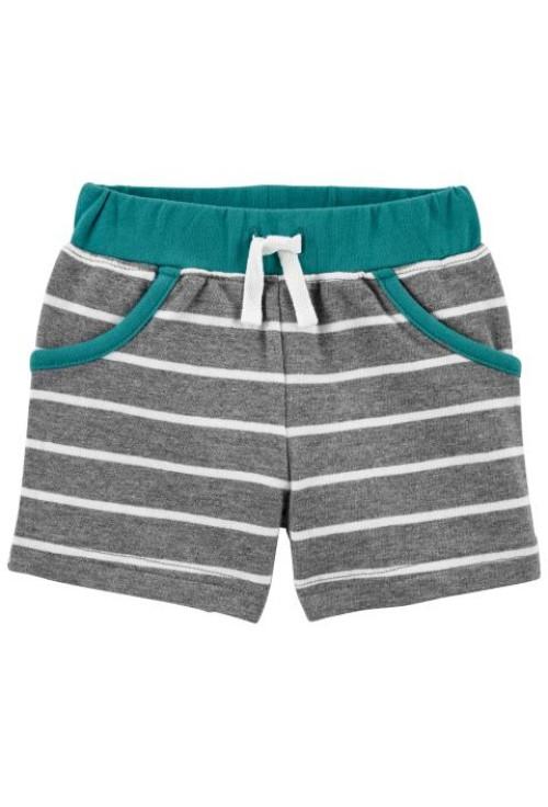 Carter's 3 darabos ujjatlan body, trikó és rövid nadrág szett cápás