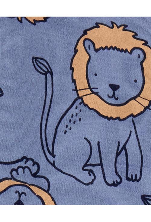 Carter's megforditható cipzáros pizsama oroszlános
