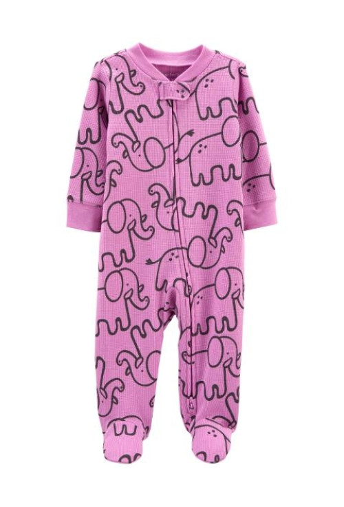 Carter's Cipzáros pizsama elefánt mintás