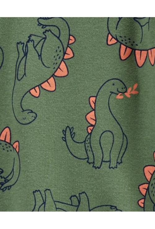 Carter's 3 darabos szett 2 pizsama és sapka dinoszauruszos