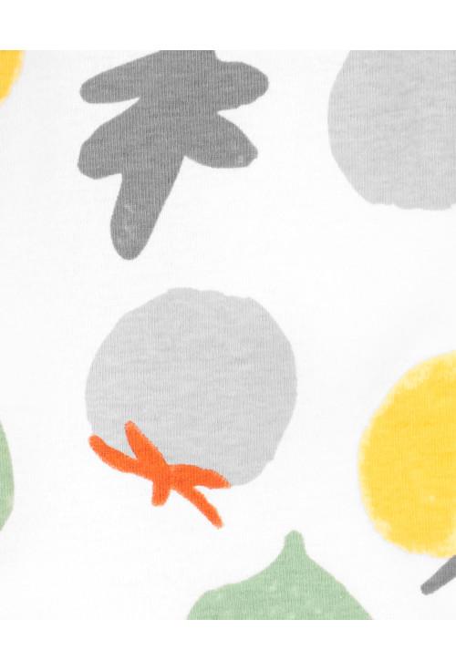 Carter's 2 darabos pizsama és sapka szett zöldséges