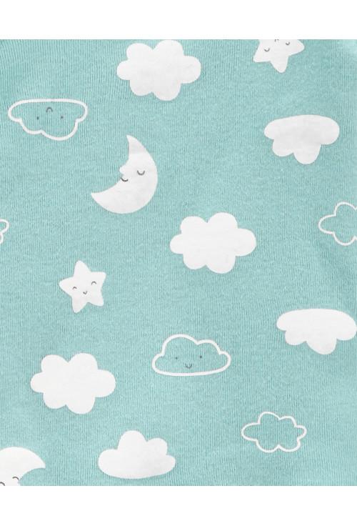 Carter's 3 darabos nadrág, felső és sapka szett felhőcske
