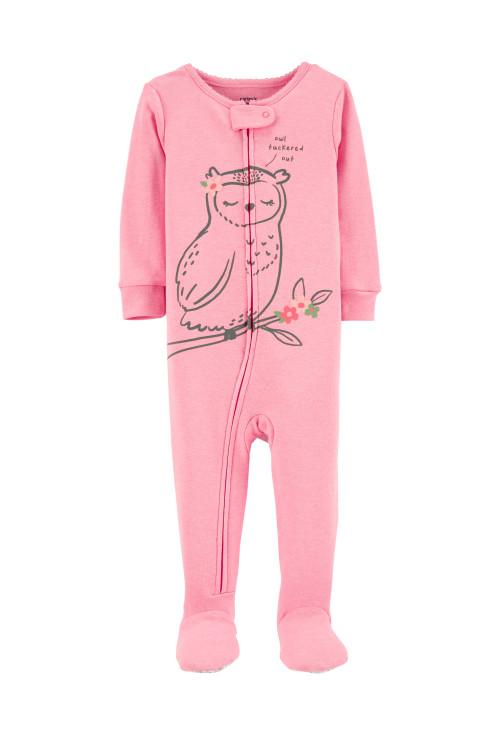Carter's cipzáros pizsama bagoly