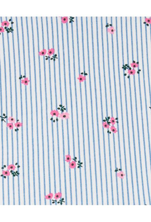 Carter's Virágós ruhácska fehér/kék