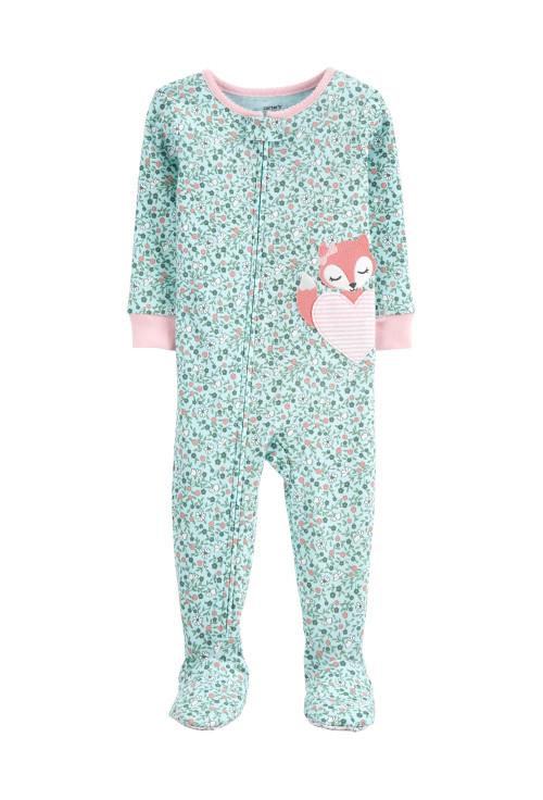 Carter's cipzáros pizsama róka