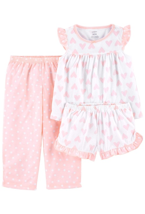 Carter's 3 darabos szivecske mintás pizsama szett