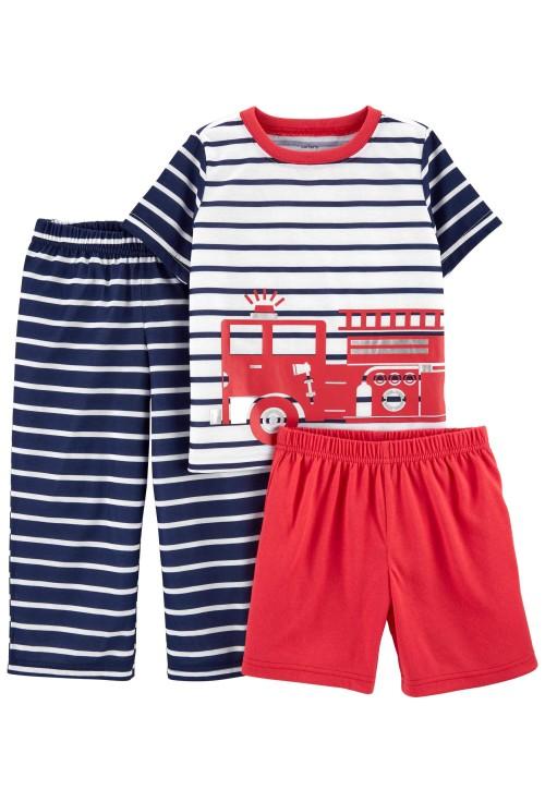 Carter's 3 darabos tűzoltóautó pizsama szett