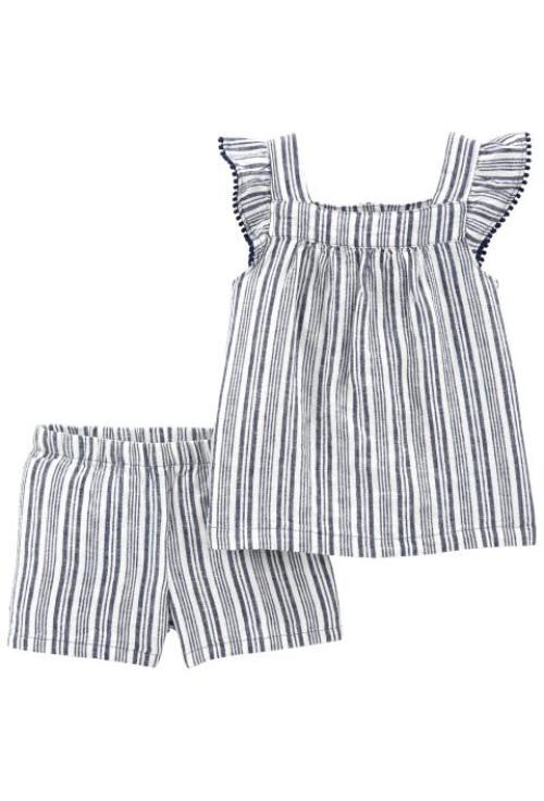 Carter's 2 darabos felső és rövid nadrág -lennből