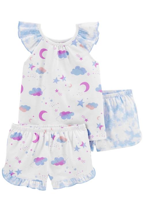 Carter's 3 darabos hóld és csillagos pizsama szett