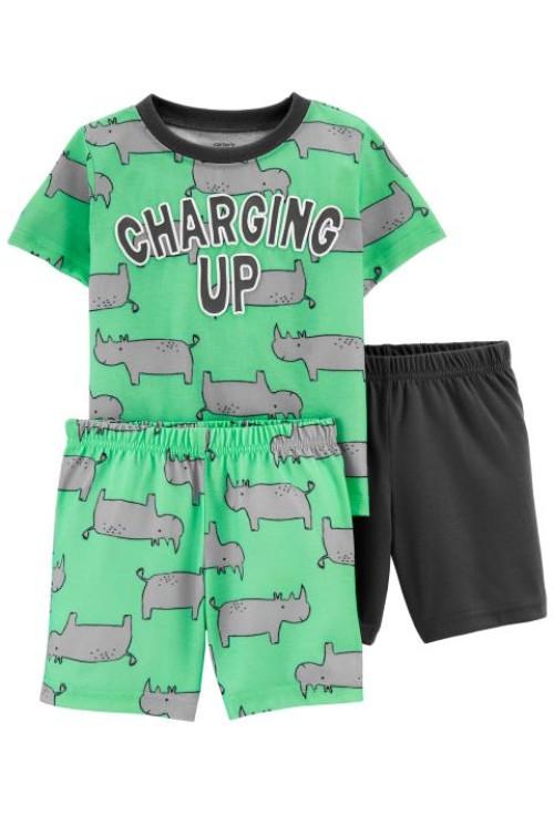 Carter's Orrszarvú mintás 3 darabos pizsama szett