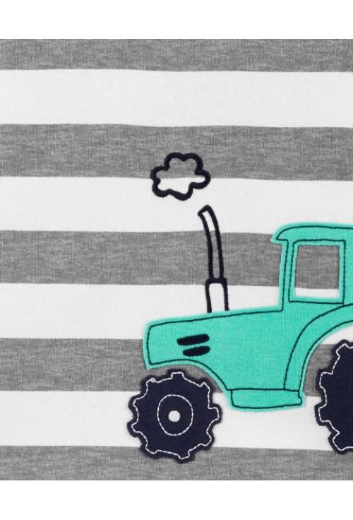 Carter's 2 darabos traktor mintás pizsama szett