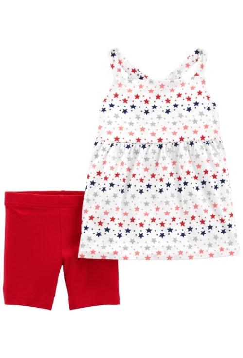 Carter's 2 darabos trikó és rövid nadrág szett piros