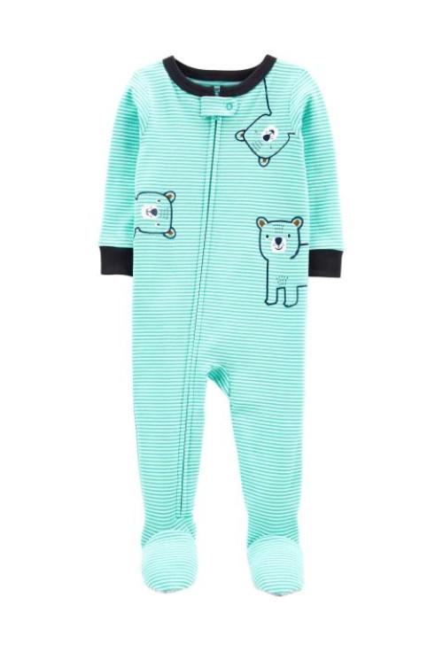 Carter's cipzáros pizsama mackó