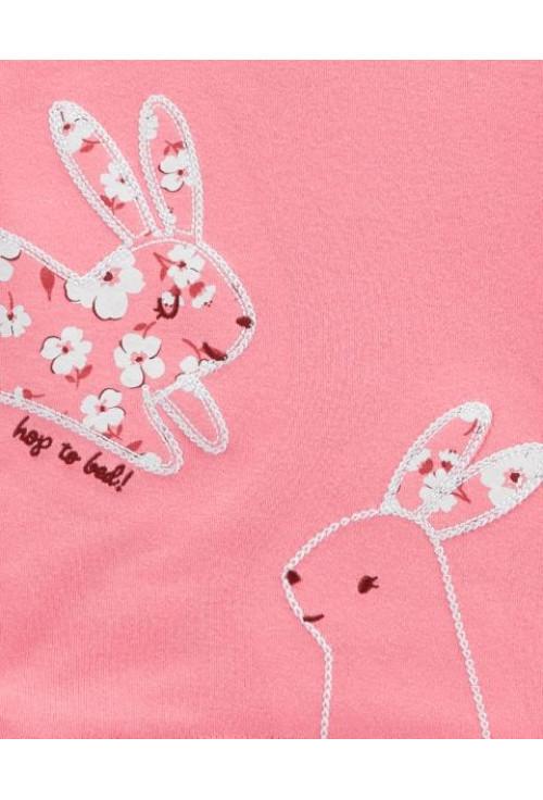Carter's 2 darabos pizsama szett nyuszis