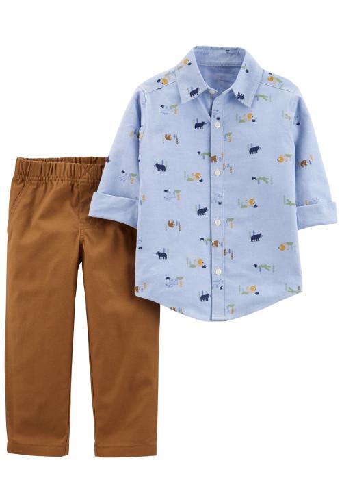 Carter's 2 darabos ing szett és nadrág macis