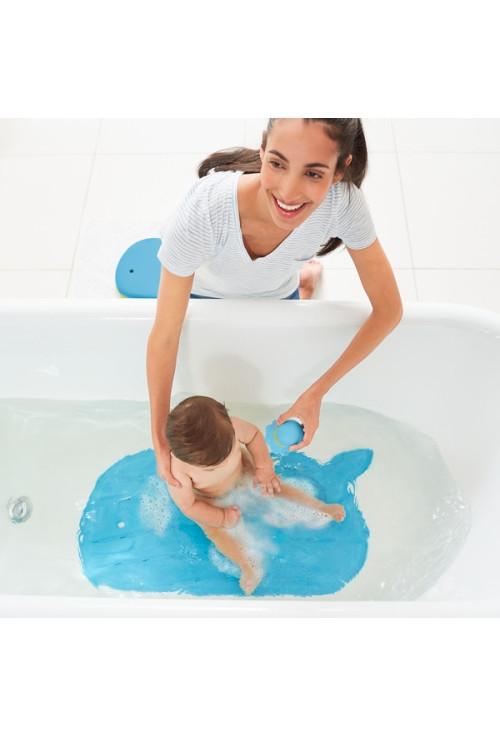 Skip Hop baba fürdőszőnyeg, csúszásgátló, bálna formájú, Moby, kék