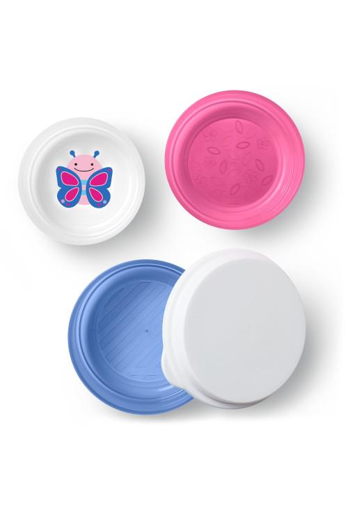 Skip Hop Zoo csúszásgátló tányér szett - Pillangó