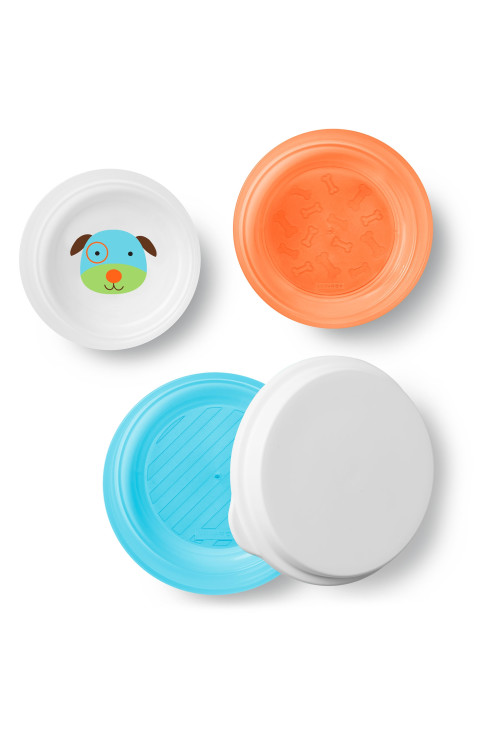 Skip Hop Zoo csúszásgátló tányér szett - Kutya