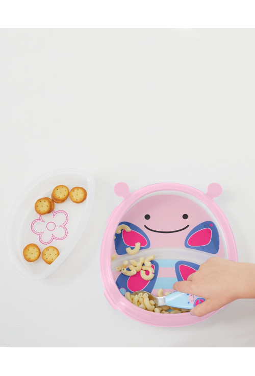 Skip Hop Zoo smart ebédkészlet tál és tányér szett - Pillangó