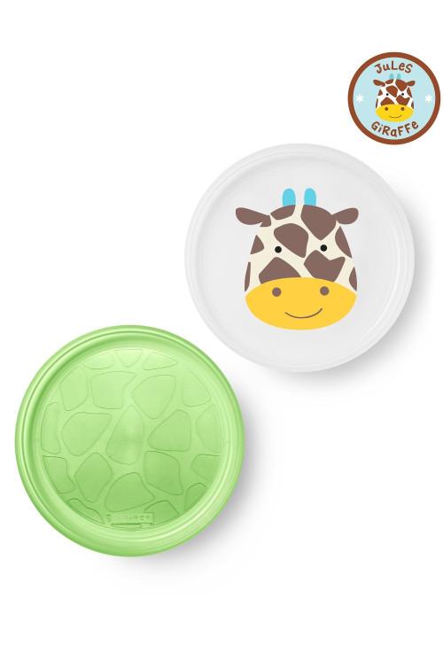 Skip Hop Zoo csúszásgátló tányér szett - Zsiráf