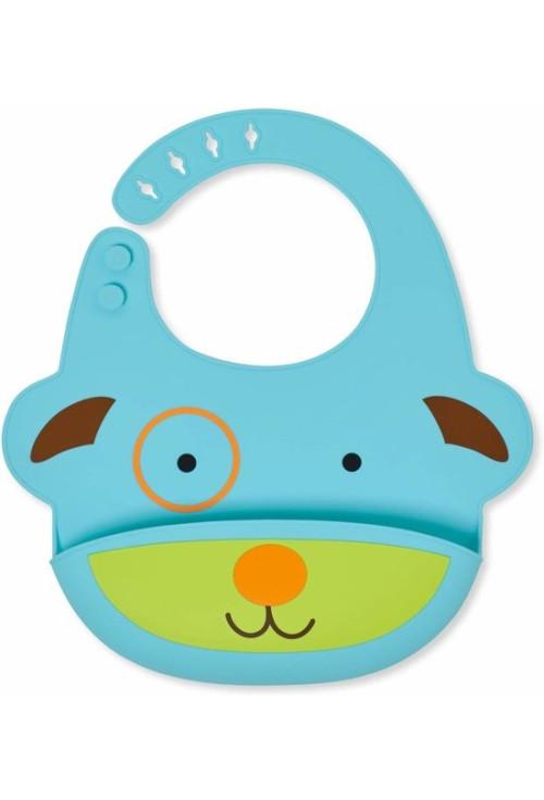 Skip Hop Zoo Fold & Go szilikon előke - Kutya