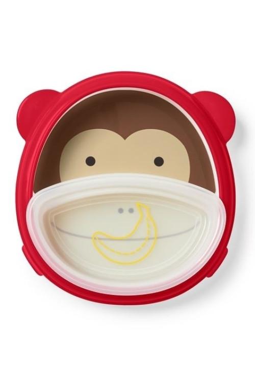 Skip Hop Zoo smart ebédkészlet tál és tányér szett - Majom