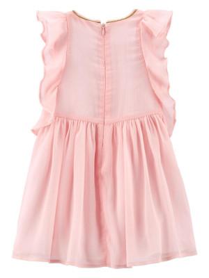 Oshkosh Fodros halvány rozsaszin ruhácska