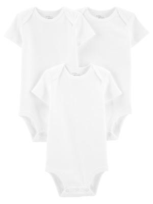 Carter's 3 db-os fehér body, 100% organikus pamut
