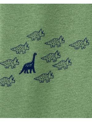 Carter's Dinoszaurusz pizsama 2 kocsis cipzárral, 100% organikus pamut