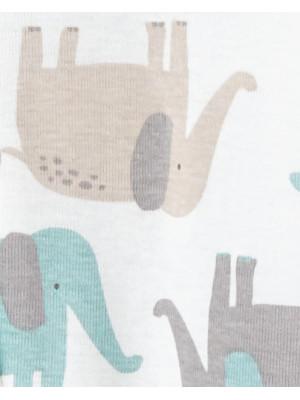 Carter's 2 db-os Elefánt mintás baba pizsamák