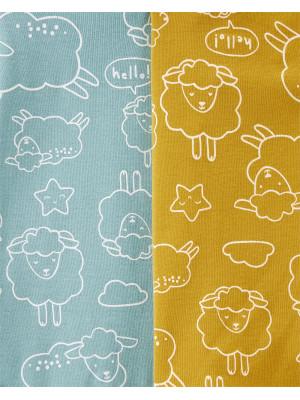 Carter's 4 darabos bárány mintás body csomag