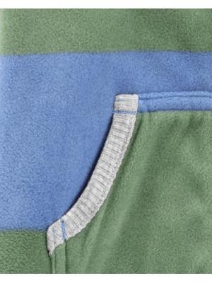 Carter's fleece csíkós overál