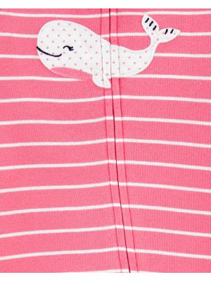 Carter's Rózsaszín bálnamintás pizsama