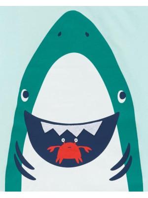 Carter's 2 darabos cápás trikó és rövid nadrág szett
