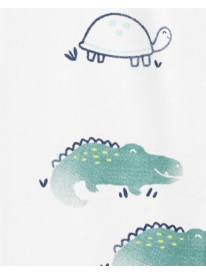 Carter's cipzáros pizsama teknős mintás