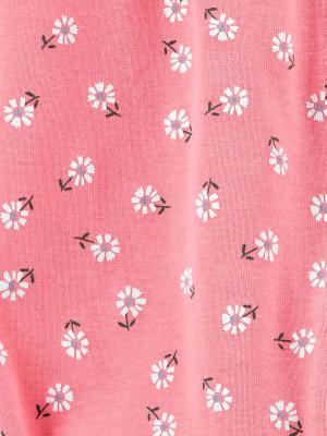 Carter's Virágmintás rózsaszín overál