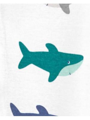 Carter's cápamintás visszafordítható cipzáros pizsama