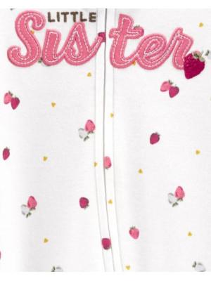 Carter's megforditható kis testvér mintás cipzáros pizsama