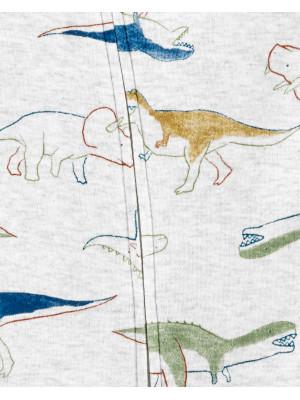 Carter's megforditható cipzáros pizsama dinoszauruszos mintás