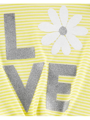 Carter's Szett 2 db-os virágos póló és nadrág