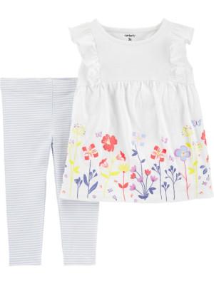 Carter's Szett 2 részes virágos póló és harisnyanadrág